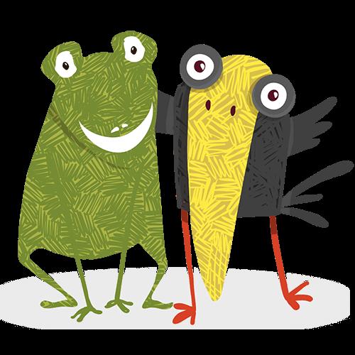 Frosch und Rabe Betreuung